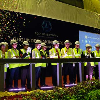 groundbreaking ceremony tech dome penang