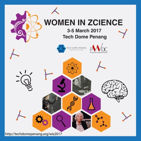 women in zcience WIZ 2017 tech dome penang